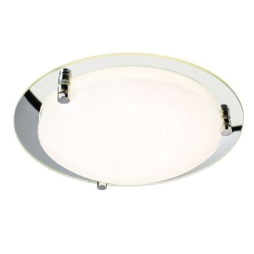 LED Opal & mirrored glass Flush Light 61231 by Endon